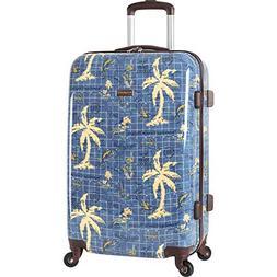Tommy Bahama Hardside Spinner Suitcase Luggage Map Suitcase,