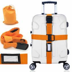 Heavy Duty Adjustable Luggage Strap Long Cross Travel Suitca
