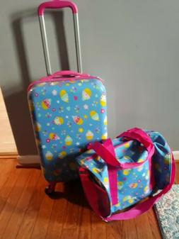 Kids Carry on Luggage Set with Spinner Wheels, Girls Travel