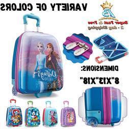 Kids Hardside Upright Luggage Disney Suitcase With Single Sp