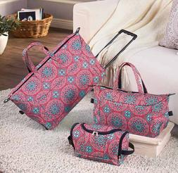 Kids Luggage Set Girls Teens Women Weekend Overnight Travel
