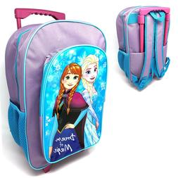Disney Frozen Kids Luggage Trolley Backpack Rucksack Bag Sui