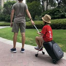 Kids scooter suitcase Lazy carry on rolling luggage ride on