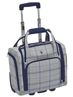 "London Fog Knightsbridge Hl 15"" Under Seat Bag, Grey/Navy Pl"