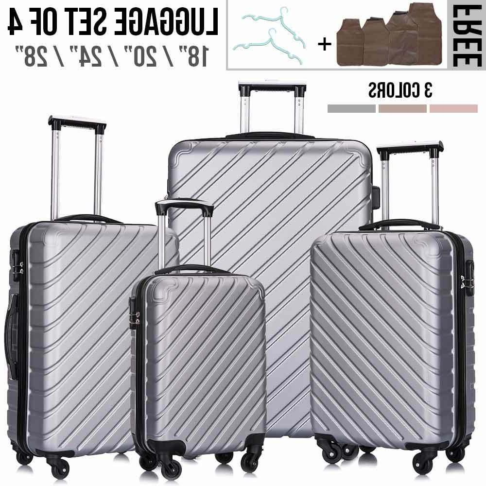 "18""20""24""28"" ABS Light Travel Hardshell Suitcase w/Lock"
