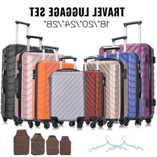 """18""""20""""24""""28"""" Piece Set-Luggage ABS Light Case Hardshell Suitcase"""