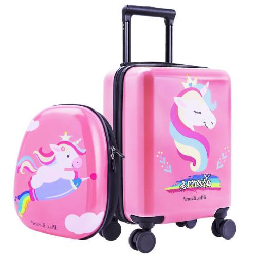 """18"""" Luggage Backpack Kids Suitcase Trolley"""