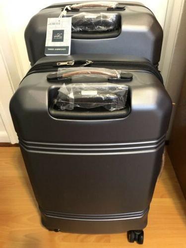2 pieces luggage set grey