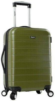 20 in. Carry-On Bag Luggage Hardside ABS with 4-Double Spinn
