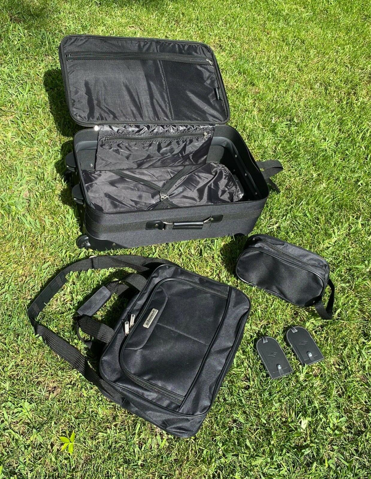 "PremiumBag 21"" Rollaboard set w/matching and dop kit black"
