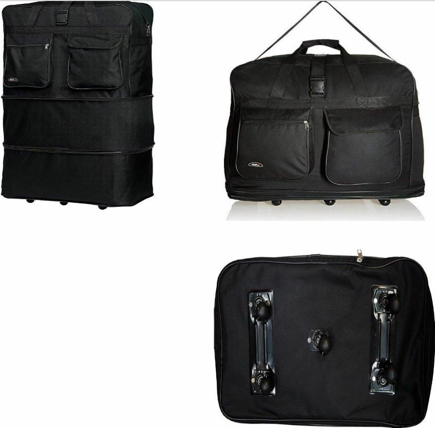 36 rolling duffle bag spinner suitcase luggage