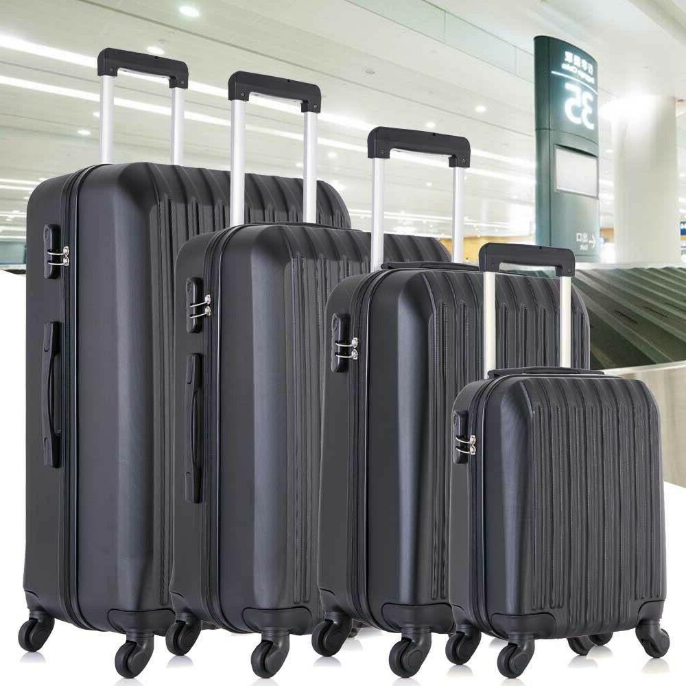4 Luggage Trolley ABS Hardside Nested