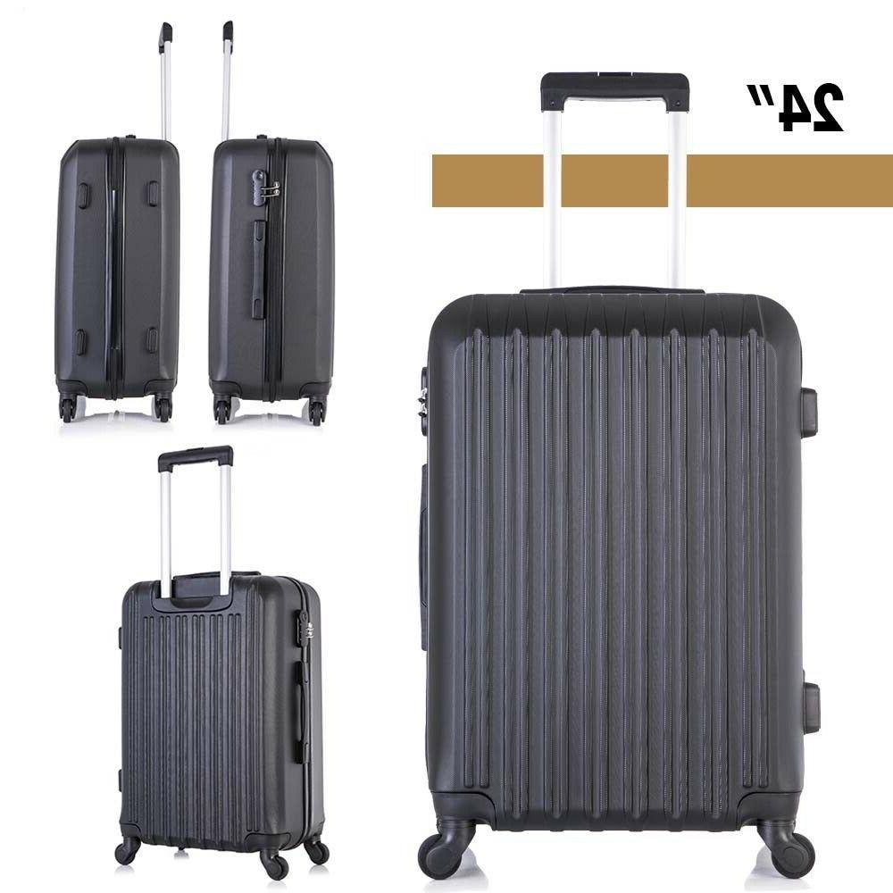 4 Luggage Trolley Hardside Nested Spinner