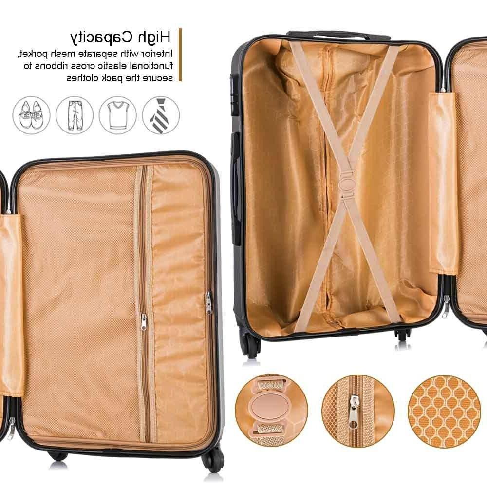 4 Piece Luggage Set Trolley Suitcase Hardside