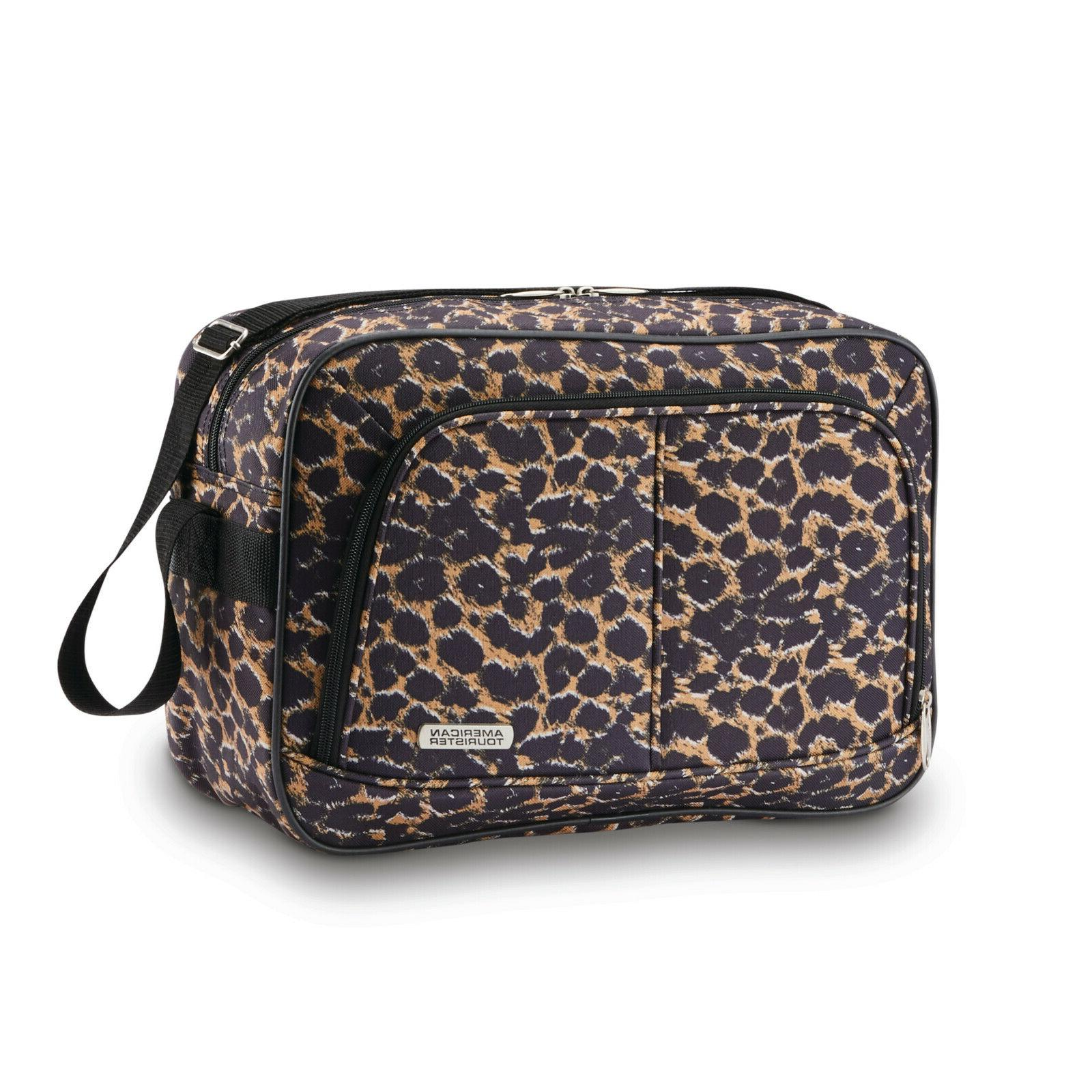 American Spinner Luggage Set Leopard