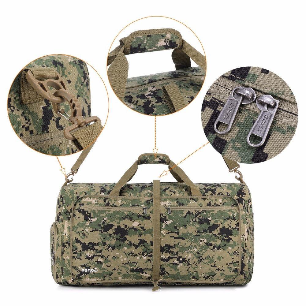 Gonex 60L Tactical Bag Cordura Packable Handbag <font><b>Luggage</b></font> Bags for Men Women Outdoor