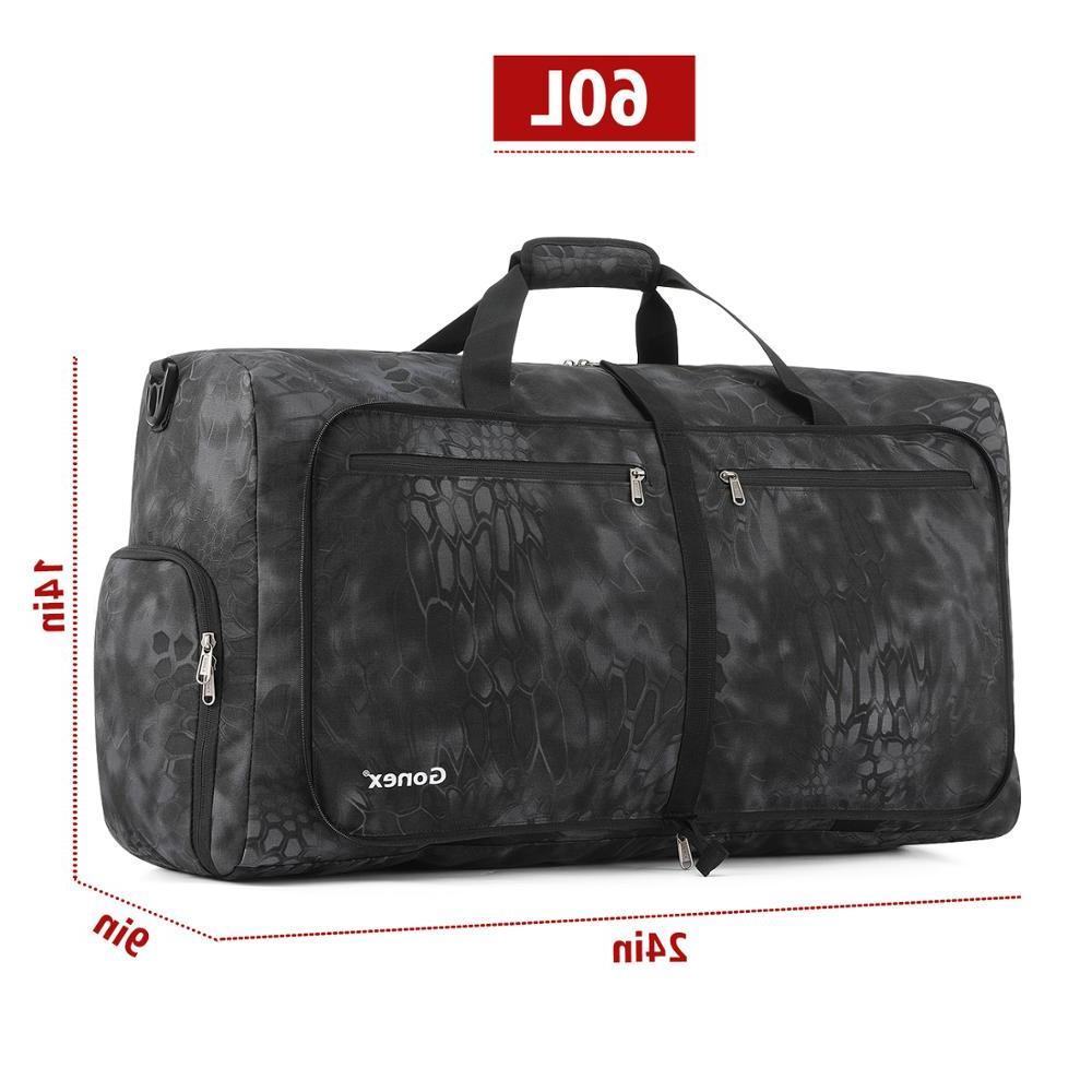 Gonex 60L Tactical Bag Packable Travel Handbag <font><b>Luggage</b></font> Bags Women Outdoor Camping