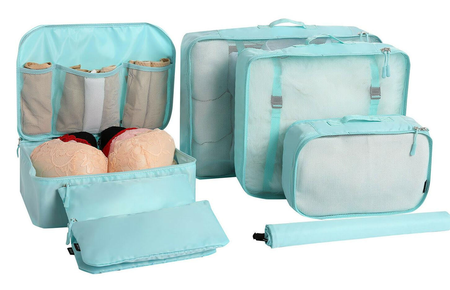 7 pcs lightweight luggage packing organizers storage