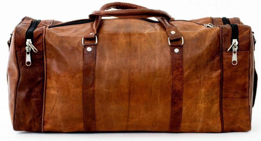 Men Genuine Gym Bag Weekender Luggage