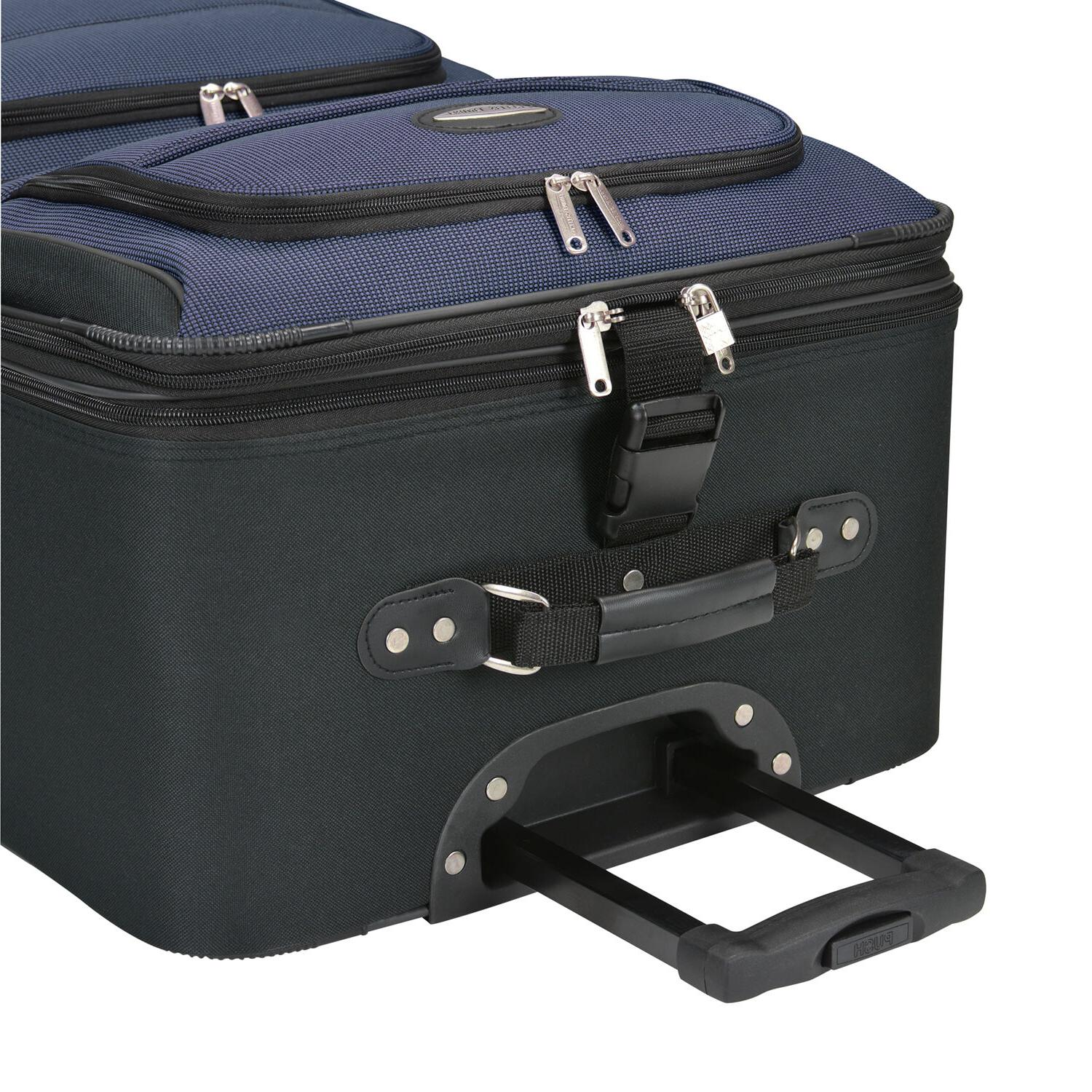 Traveler's Choice Carry-on Expandable Rolling Suitcase Bag