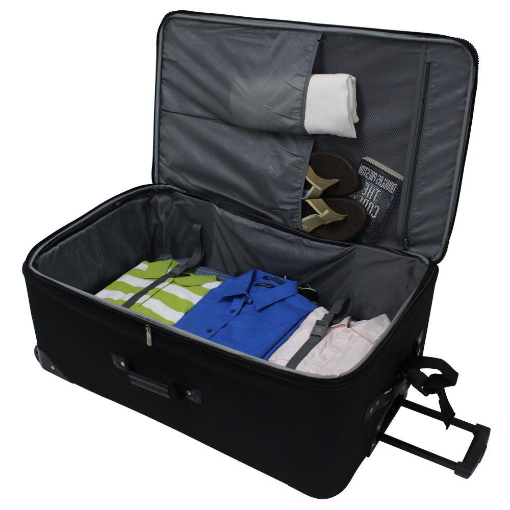 """Traveler's Choice 21"""" Carry-on Expandable Rolling Suitcase Bag"""
