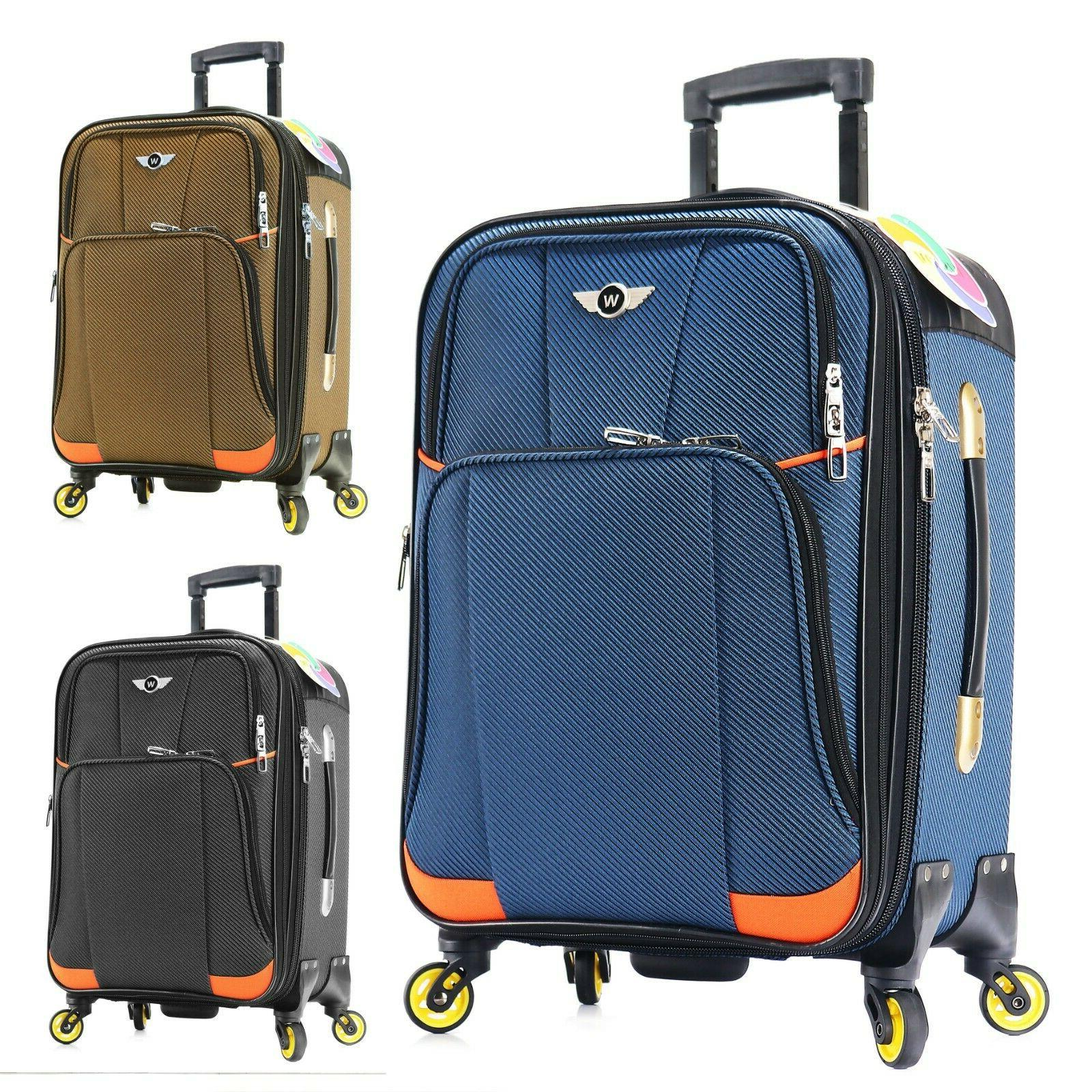 carry on luggage 22x14x9 travel lightweight rolling