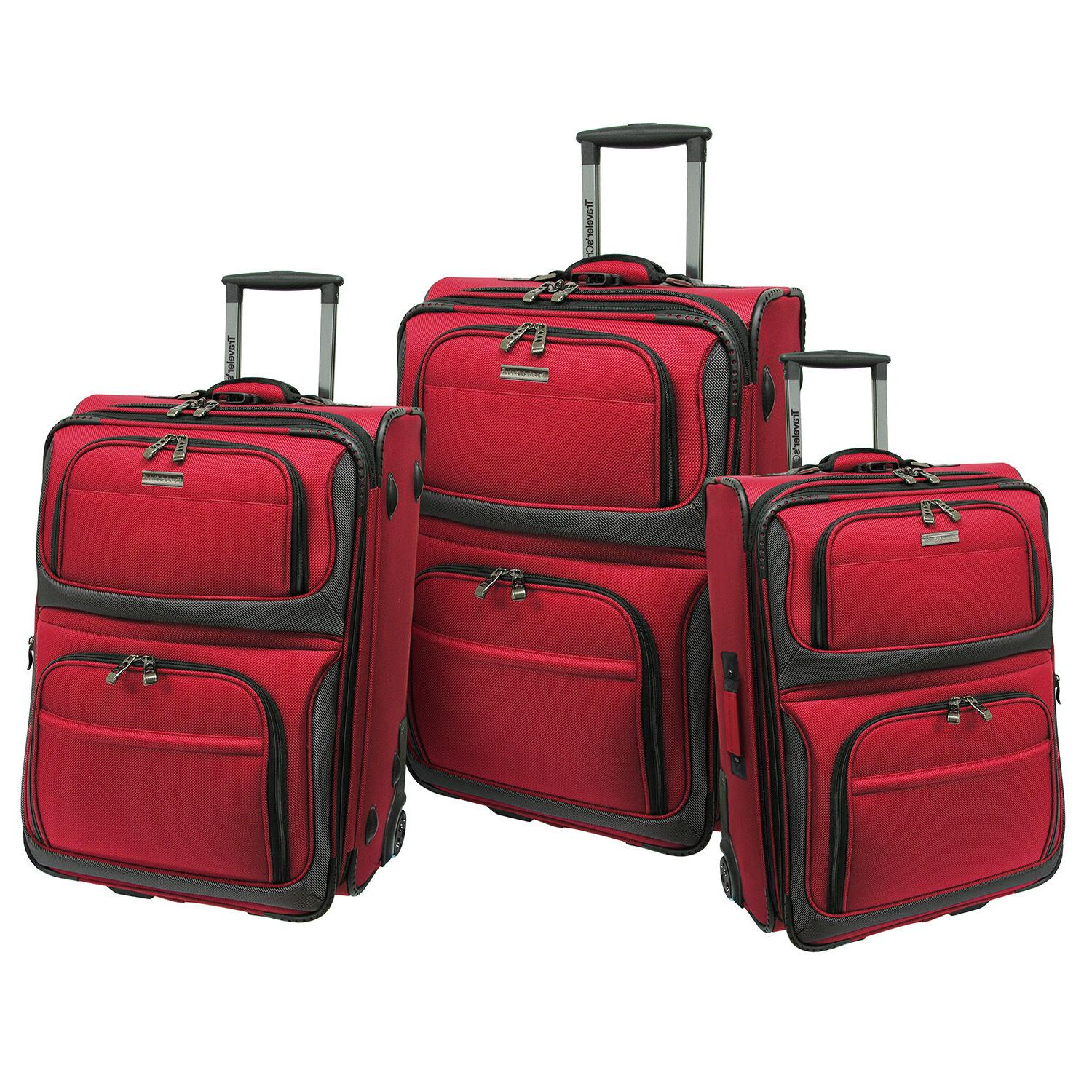"""Traveler's Choice 22"""" Carry-On Rolling Luggage Suitcase"""