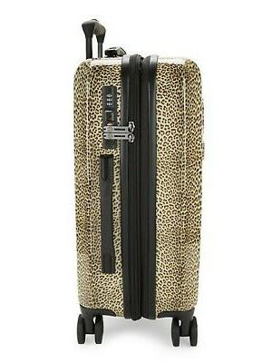 Designer Roberto Logo Leopard Carry-On Luggage