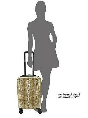 Designer Roberto Cavalli Classic Logo Leopard TSA Carry-On Luggage