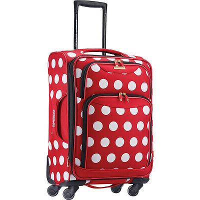 disney minnie mouse softside spinner kids luggage