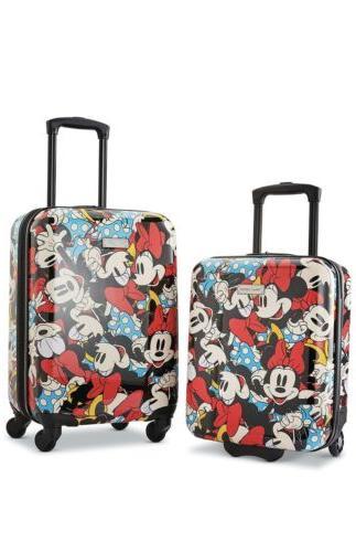 disney roll aboard luggage 2 piece set