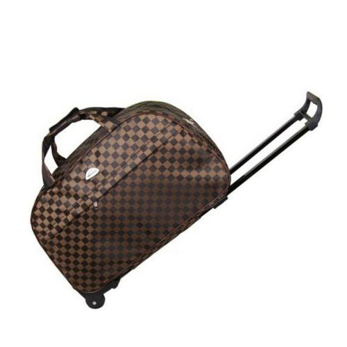 Duffle Wheeled Carry On Luggage Travel Suitcase