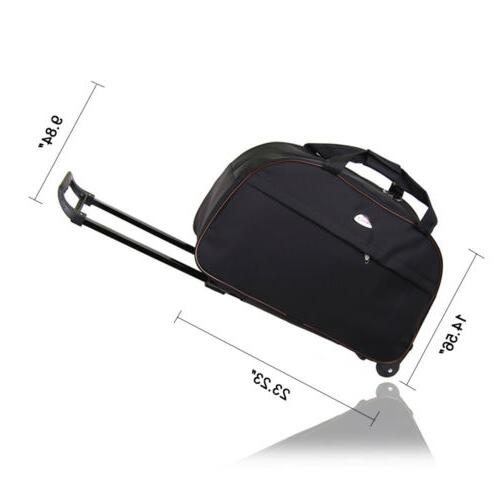 """Duffle 24"""" Rolling Wheeled Bag Carry Suitcase"""