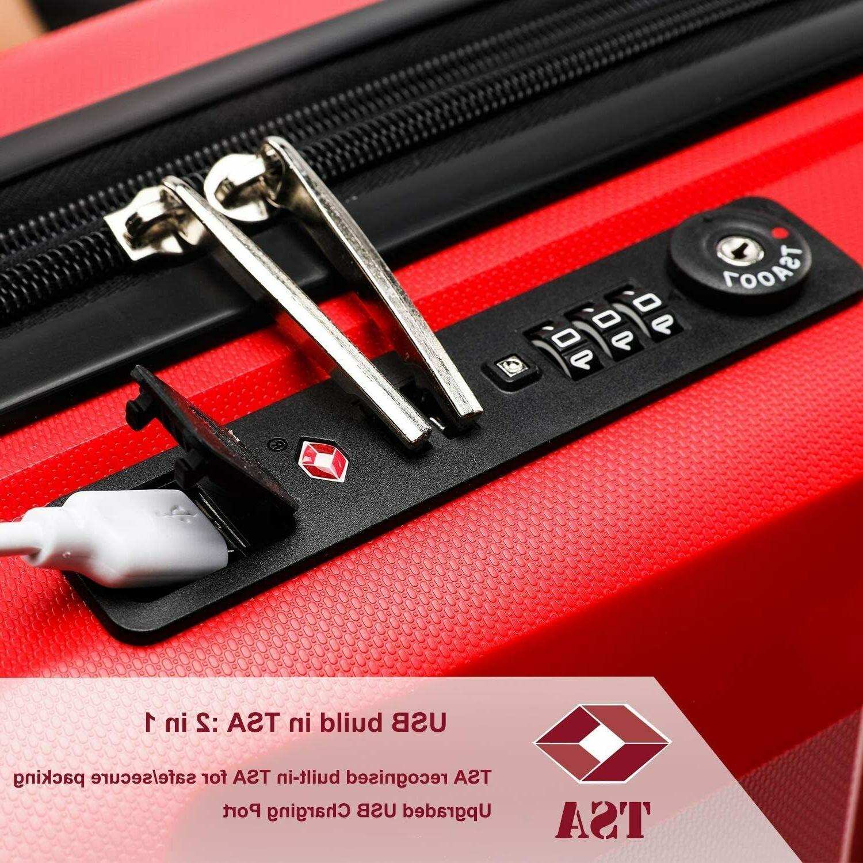 REYLEO Luggage Inch PP Luggage USB