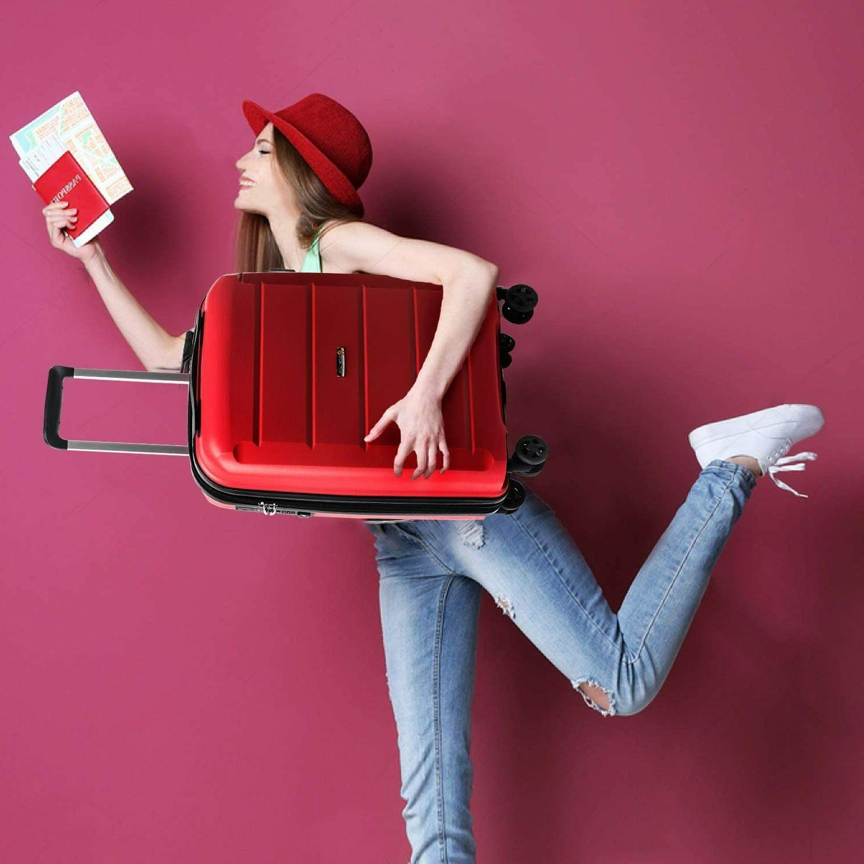 REYLEO Expandable Inch Luggage with USB