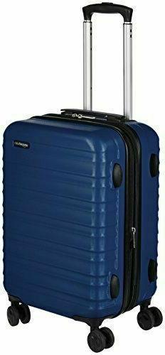 AmazonBasics Hardside Luggage Cabin Size Sm Navvy Blue