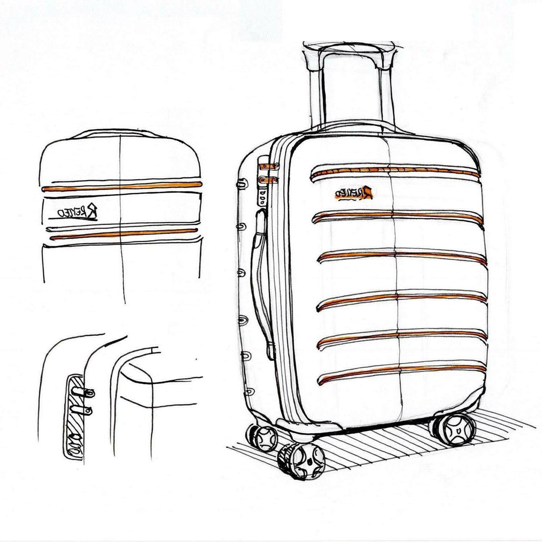 REYLEO Hardside 20 Luggage Lightweight