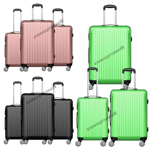 hardside spinner luggage set 3 piece lightweight
