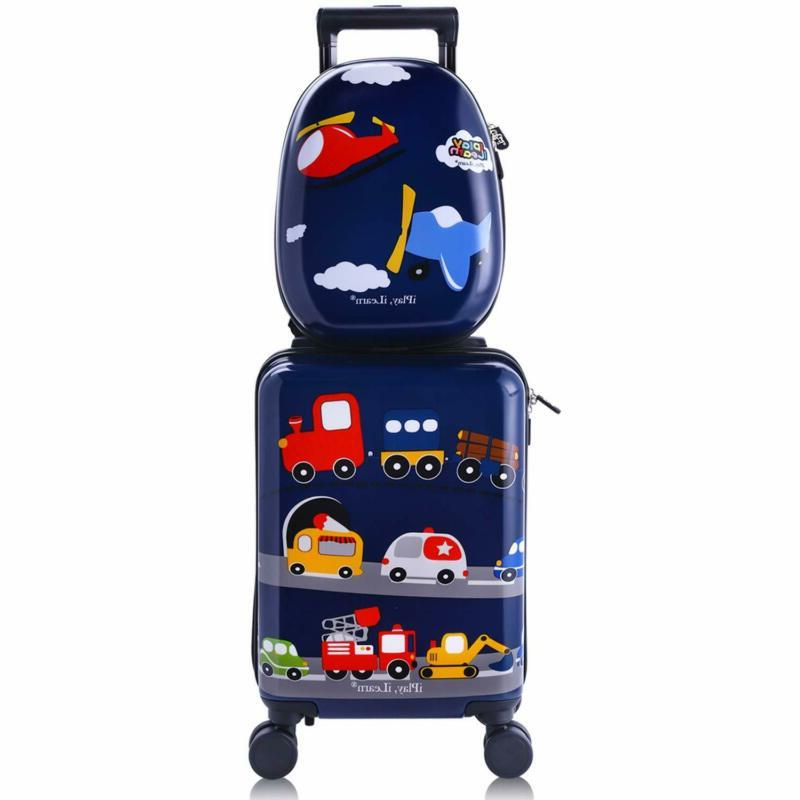 kids carry on luggage set with wheels