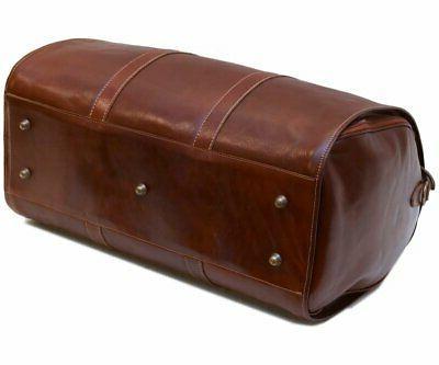 Cenzo Leather Garment Bag Carryon Weekender Travel Bag