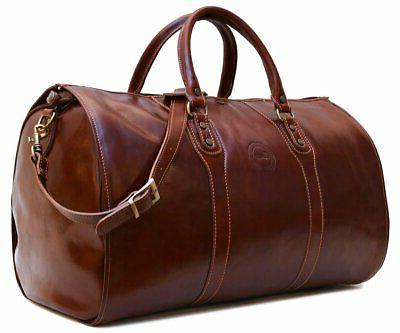 leather garment duffle bag luggage suitcase carryon