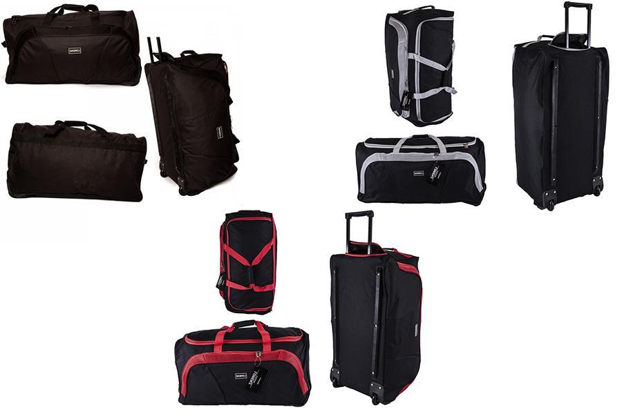 lighweight spacious duffle bag on wheels