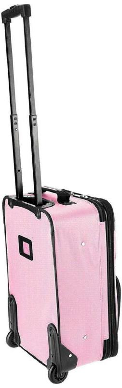 "Luggage 2PCS Carry-On Wheeled Garment Bag Heavy Duty 19"" Pin"