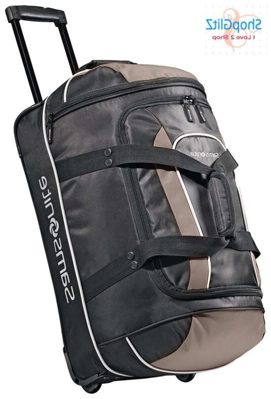 Samsonite Luggage Andante Wheeled Duffel, Black/Grey, 22 Inc