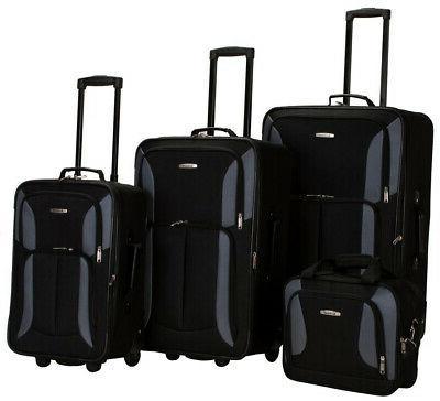 Luggage Set Expandable Softside Heavy Duty Polyester Fabric