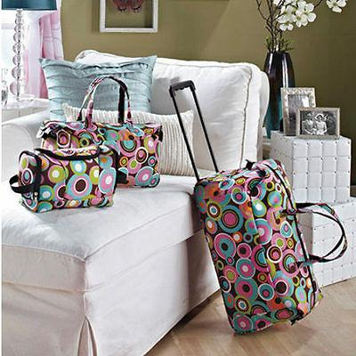 Kids Luggage Sets For Girls Women Teens Toiletry Tote Rollin