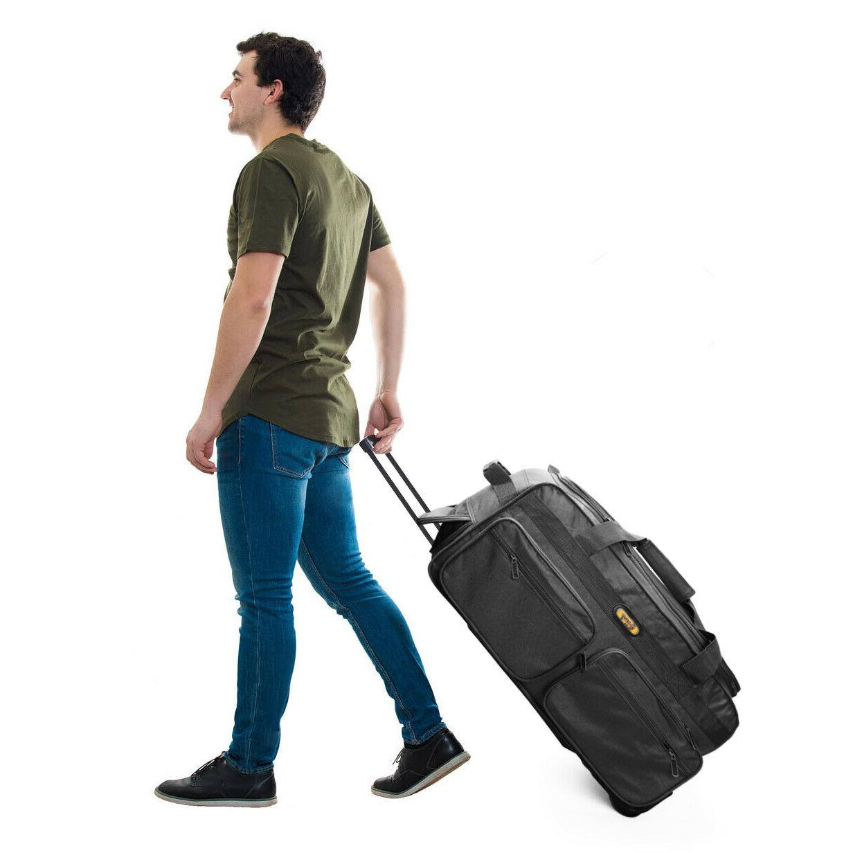 luggage travel 29 50lb rolling wheeled duffle