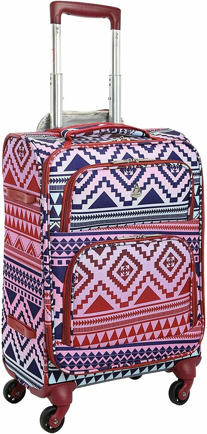 maximum allowance airline approved carryon suitcase aztec
