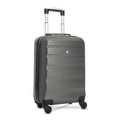 maximum hardshell airline approved carryon suitcase charcoal