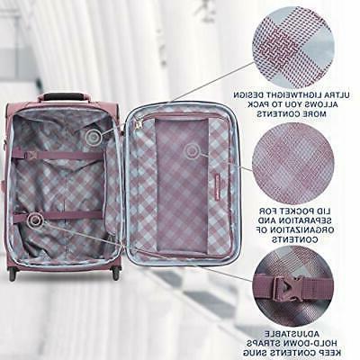 Travelpro Maxlite 5-Softside Lightweight Expandable Upright Luggage Dusty Ros...